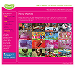 Arty Party themed birthday party website